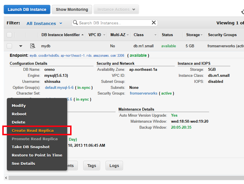 Amazon RDS for MySQLのクロスリージョン・リードレプリカを試す