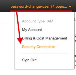IAMの使い方: IAMユーザーのパスワード変更