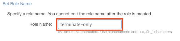 Enter Role Name