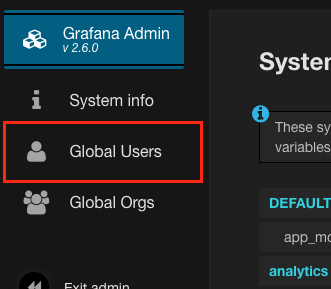 Global users button