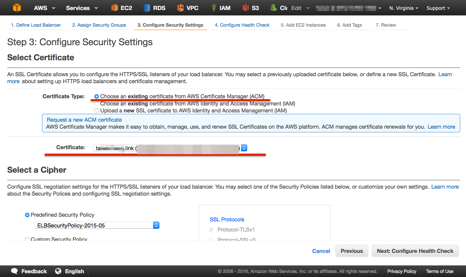 Aws certificate managerssl https 443 http 80 elb acm acm06 1betcityfo Gallery